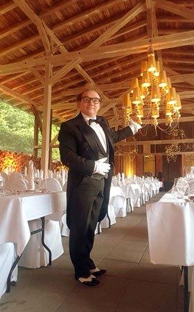 Comedykellner für Hochzeit buchen mieten